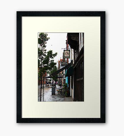 Canterbury Street scene Framed Print