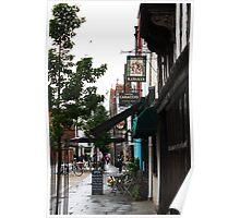 Canterbury Street scene Poster