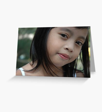 little girl with nice smile expression Greeting Card