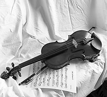Clement & Weise violin with partiture by Rafael López