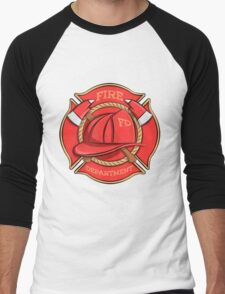Firefighter's Badge Men's Baseball ¾ T-Shirt