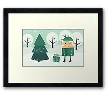 xmas card Framed Print