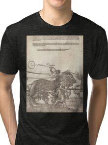 Albrecht Dürer or Durer The Triumphal Chariot of Maximilian I The Great Triumphal Car plate 4 of 8 Tri-blend T-Shirt