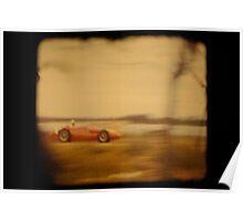 red racing car Poster