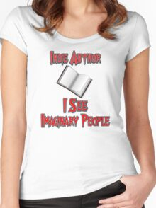 Indie Author - I See Imaginary People Women's Fitted Scoop T-Shirt