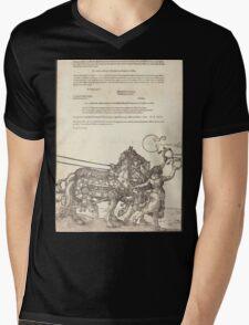 Albrecht Dürer or Durer The Triumphal Chariot of Maximilian I The Great Triumphal Car plate 8 of 8 Mens V-Neck T-Shirt