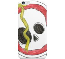 Skull with yellow bow iPhone Case/Skin