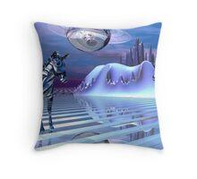 A Zebra's Alternate Reality Throw Pillow