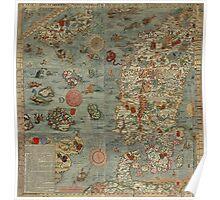 Carta Marina - Sea Monster Map Poster