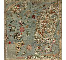 Carta Marina - Sea Monster Map Photographic Print