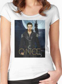 "Captain Hook Comic Poster ""Moonlight"" Women's Fitted Scoop T-Shirt"