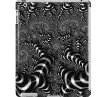 Black and White Fractal iPad Case/Skin
