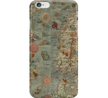 Carta Marina - Sea Monster Map iPhone Case/Skin