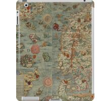Carta Marina - Sea Monster Map iPad Case/Skin