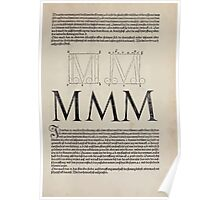 Measurement With Compass Line Leveling Albrecht Dürer or Durer 1525 0123 Alphabet Letters Calligraphy Font Poster