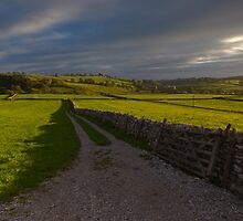 Evening Light Over Malhamdale.  by Nick Atkin