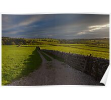 Evening Light Over Malhamdale.  Poster