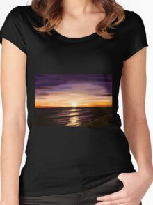 The Shoreline Women's Fitted Scoop T-Shirt