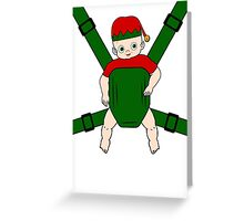 Elf Baby Carrier Greeting Card