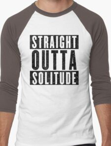 Adventurer with Attitude: Solitude Men's Baseball ¾ T-Shirt