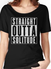 Adventurer with Attitude: Solitude Women's Relaxed Fit T-Shirt