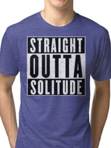 Adventurer with Attitude: Solitude Tri-blend T-Shirt