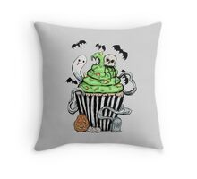 Gothic Cupcake  Throw Pillow