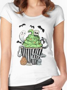 Gothic Cupcake  Women's Fitted Scoop T-Shirt