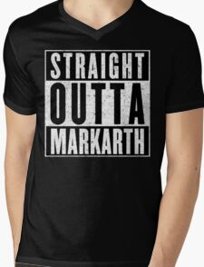Adventurer with Attitude: Markarth Mens V-Neck T-Shirt