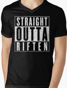 Adventurer with Attitude: Riften Mens V-Neck T-Shirt