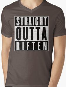 Adventurer with Attitude: Riften Mens V-Neck T-Shirt
