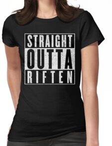 Adventurer with Attitude: Riften Womens Fitted T-Shirt