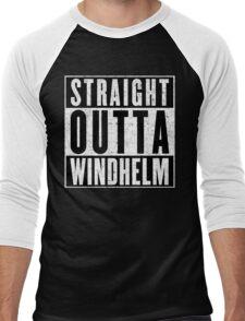 Adventurer with Attitude: Windhelm Men's Baseball ¾ T-Shirt