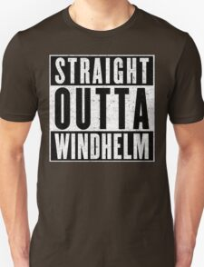 Adventurer with Attitude: Windhelm Unisex T-Shirt