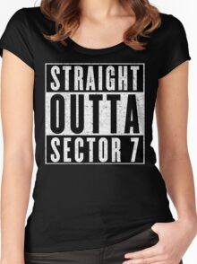 Sector 7 Represent! Women's Fitted Scoop T-Shirt