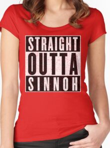Trainer with Attitude: Sinnoh Women's Fitted Scoop T-Shirt