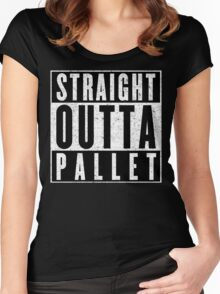 Trainer with Attitude: Pallet Town Women's Fitted Scoop T-Shirt