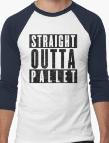 Trainer with Attitude: Pallet Town Men's Baseball ¾ T-Shirt