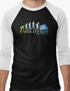 Motorcycle Ape To Evolution Men's Baseball ¾ T-Shirt