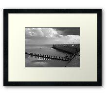Bridlington Breakwater Framed Print