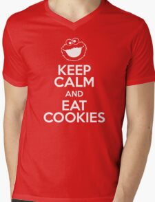 Keep Calm and Eat Cookies Mens V-Neck T-Shirt