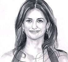 Penelope Cruz - Commissioned with graphite pencils. by whataportrait