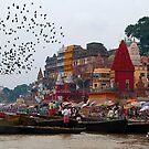 Life at Varanasi Ghat #4 by Mukesh Srivastava