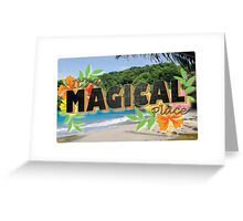 Its a Magical Place - Agents of Shield - Vintage Postcard Greeting Card