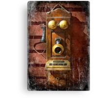 Steampunk - Phone Phace  Canvas Print