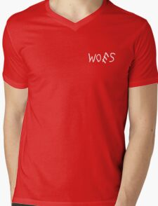 Woes Black Mens V-Neck T-Shirt
