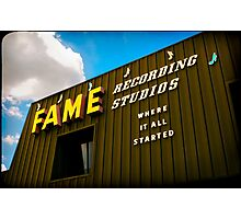 """Fame Studios"" - Muscle Shoals, Alabama Photographic Print"