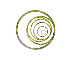 Green strange circle Photographic Print
