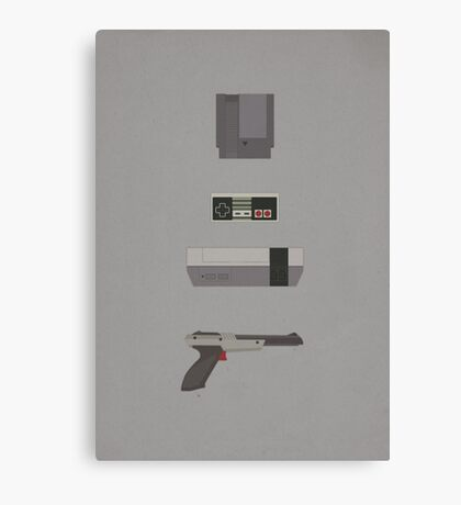 8-Bit love (NES) Canvas Print