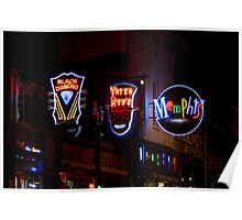 """Beale Street Neon"" - Memphis, Tennessee Poster"